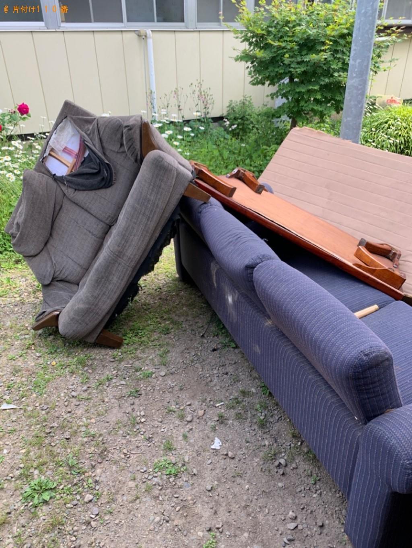 【和歌山市】ソファー、シングルベッド、ベッドマットレス等の回収