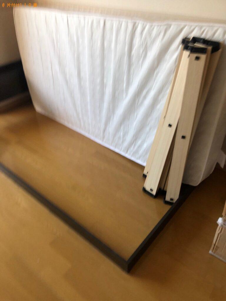 冷蔵庫、洗濯機、マットレス付きシングルベッド等の回収