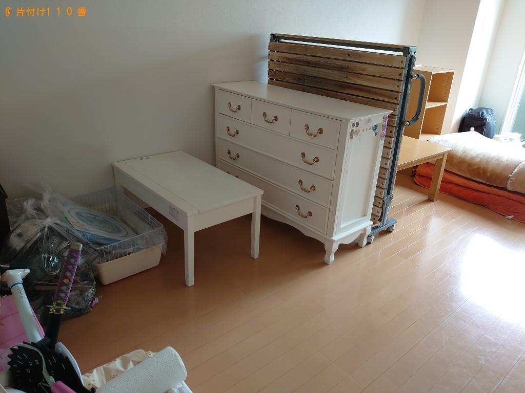 【和歌山市】スダンドミラー、マットレス付きシングルベッド等の回収