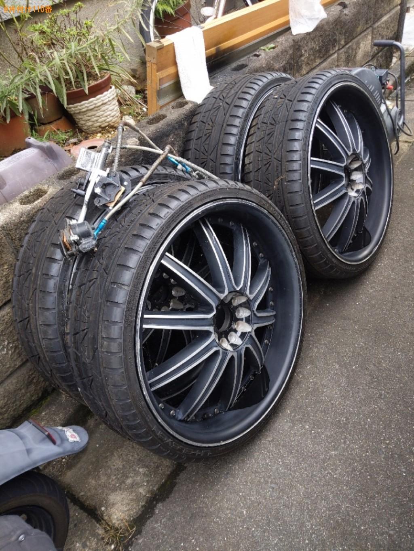 原付、自動車タイヤ、車のパーツの回収・処分ご依頼 お客様の声